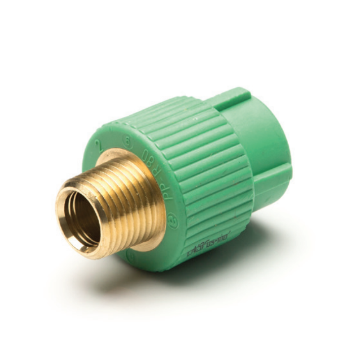 """Male Adapter (1"""" — 32 mm) x ¾"""" MIP - Less hex-shaped transition"""