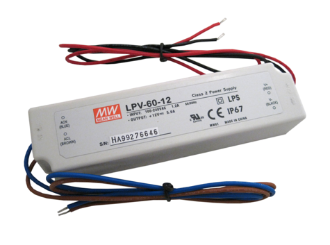 Diode LED DI-0906-LPS LO-PRO® Junction Box and Driver Combo - 12V DC Constant Voltage Driver, Class 2, 60W