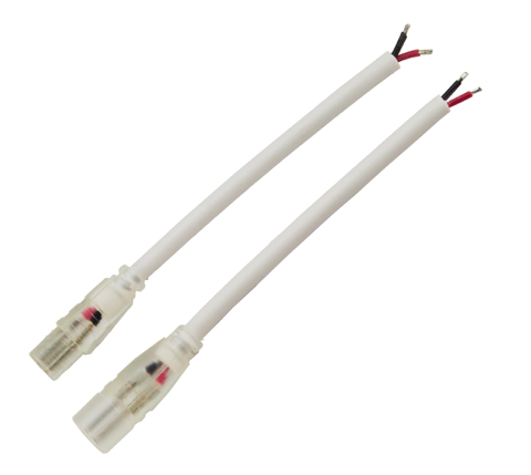 Diode LED DI-10MM-WL-SCP-5 Wet Location Solder Connector Pair (10.5mm Plugs) - White PVC 2464, 5 Pack