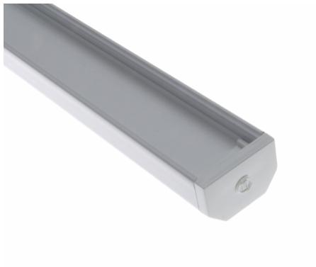 Diode LED DI-CPCHA-SQ96W CHROMAPATH® Builder Channel, SQUARE, White Finish, 96 in.- Bundle
