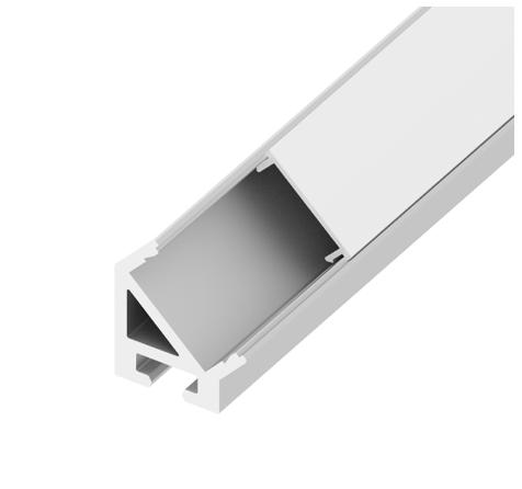 Diode LED DI-CPCHA-4596W CHROMAPATH® Builder Channel, 45°, White Finish, 96 in.- Bundle