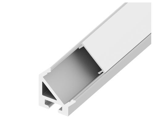 Diode LED DI-CPCHB-90SD-48 CHROMAPATH® Bundle 90° SIDEVIEW Channel - Frosted Cover, End Cap Pairs and Mounting Hardware