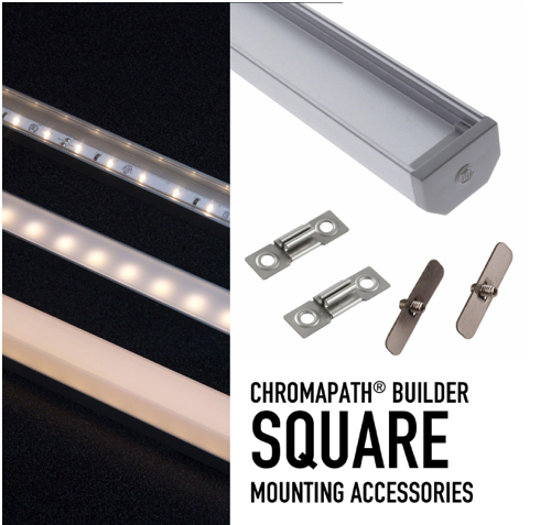 Diode LED DI-CPCHB-90SD-ACC CHROMAPATH® Bundle 90° SIDEVIEW Accessory Bundle - Pair of End Caps and Mounting Hardware