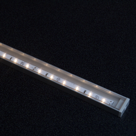 Diode LED DI-CPCHC-CL96-10 CHROMAPATH® Channel Cover: Clear, 96 in. – 10 Cover Pack