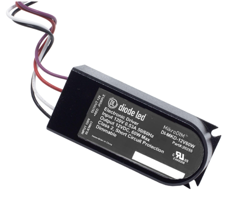 Diode LED DI-MKD-12V60W MikroDim™ Electronic Dimmable Driver - 12V, 60W