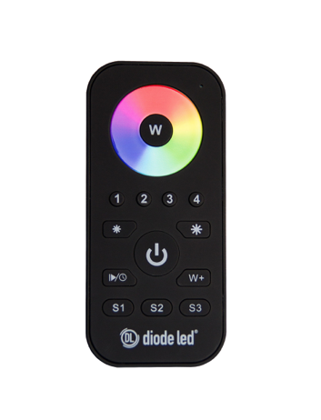 Diode LED DI-RF-REM-RGBW-4 TOUCHDIAL™ Color Control System - RGB/RGBW 4-Zone Remote Controller