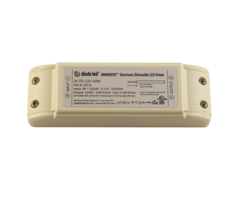 Diode LED DI-TD-12V-30W-LPS LO-PRO® Junction Box and Driver Combo - 12V OMNIDRIVE® Electric Dimmable Driver - 30W