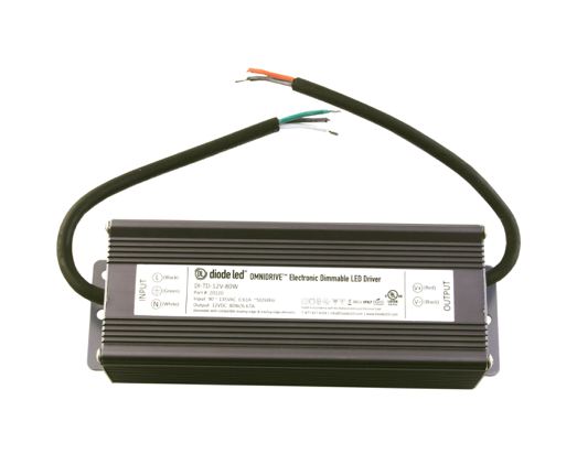 Diode LED DI-TD-24V-80W-LPL LO-PRO® Junction Box and Driver Combo - 24V OMNIDRIVE® Electric Dimmable Driver - 80W