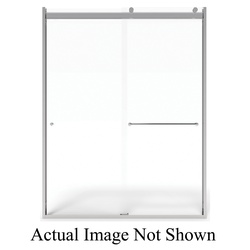 American Standard AM00811400.213 Top-Roller Sliding Shower Door, Semi-Frameless Frame, Tempered Glass, Silver Shine, 3/8 in THK Glass, 56 to 60 in W Opening, Domestic