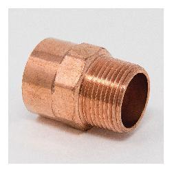 1 x 3/4 Copper Male Adapter CXMPT Wrot