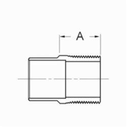 1 x 1-1/2 Copper Male Adapter CXMPT Wrot