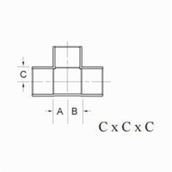1 x 3/4 x 3/4 Copper Tee CXCXC Wrot