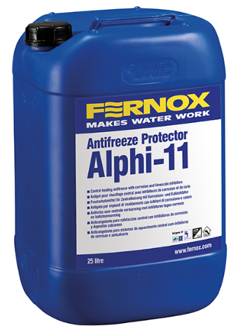 Alphi-11 Protector is a combined antifreeze & inhibitor providing protection against internal corrosion and limescale formation. 5 Gallon tub