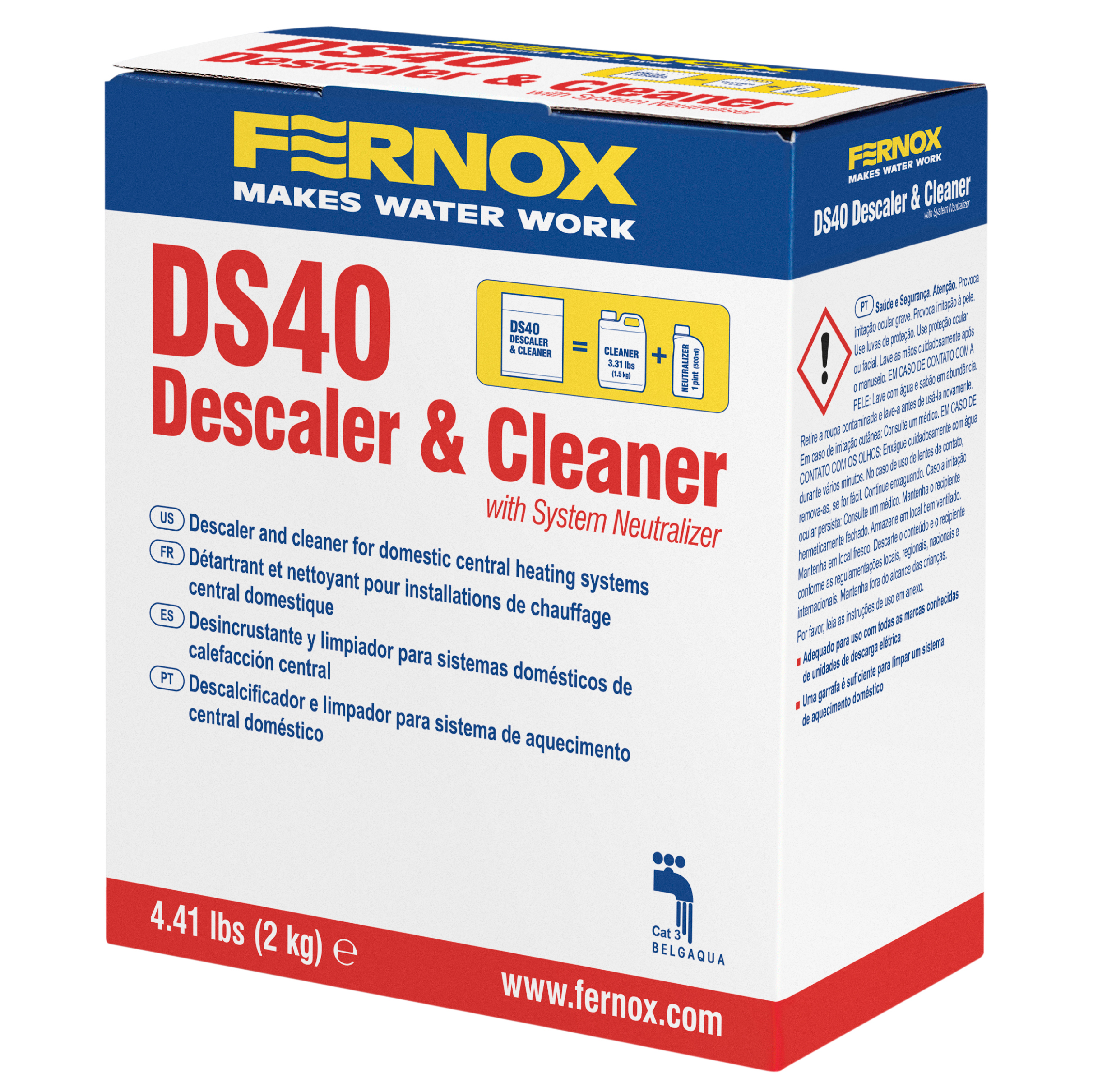 DS40 System Cleaner is a fast-acting, citric based acid cleaner designed to remove limescale, black sludge & other system contaminants.