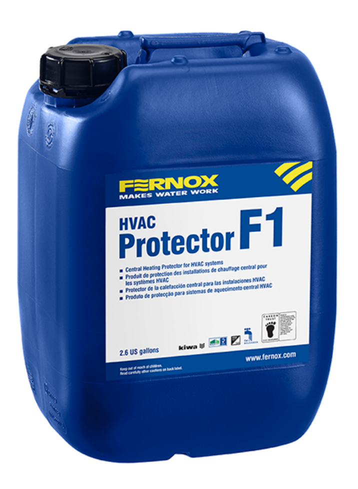 F1 - Central heating system inhibitor is suitable for all mixed metal, light commercial and HVAC heating and cooling systems. 2.6 GAL
